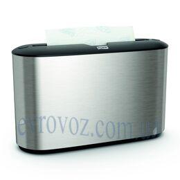 TorkXpres настольный диспенсер для листовых полотенец Multifold алюминий