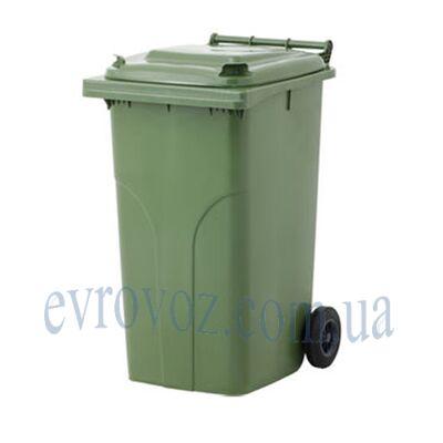 Мусорный контейнер 240л зеленый