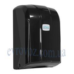 Диспенсер для листовой туалетной бумаги черный