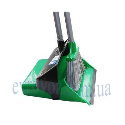 Набор для уборки совок с щеткой ДастерСэт зеленый