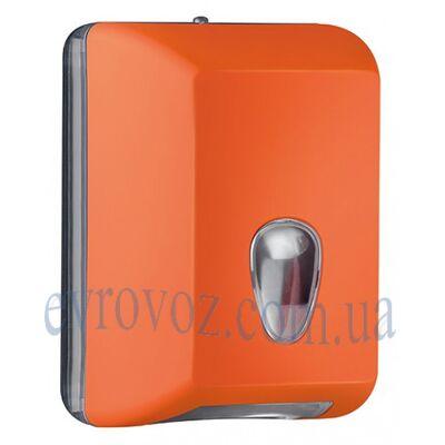 Диспенсер для листовой туалетной бумаги оранж