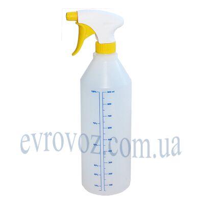 Бутылка с пульверизатором 1л желтая
