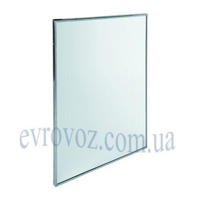 Зеркало с окантовкой из нержавеющей стали
