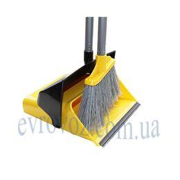Набор для уборки совок с щеткой ДастерСэт желтый