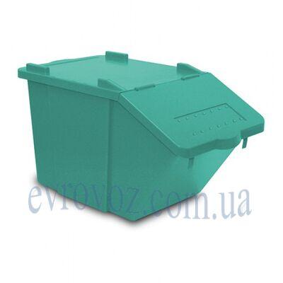 Контейнер с крышкой 45л SPLI зеленый