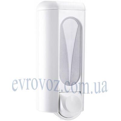Дозатор жидкого мыла 0,8 л Аквалба белый с большим окошком