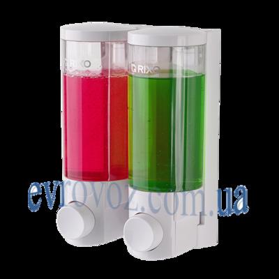 Двойной дозатор для жидкого мыла Lungo 2*300 мл. Италия