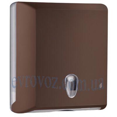 Диспенсер для бумажных полотенец Z-сложения Колор коричневый