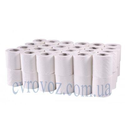Туалетная бумага в стандартном рулоне 100% целлюлоза 2 слоя 150 листов
