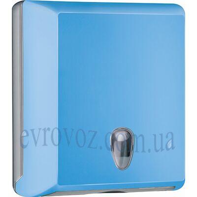 Диспенсер для бумажных полотенец Z-сложения голубой