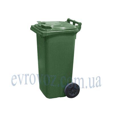 Мусорный контейнер 120л зеленый