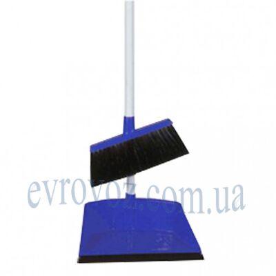 Набор для уборки совок с щеткой Аэропорто синий