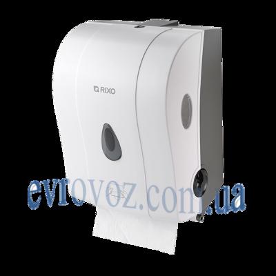 Полуавтоматический диспенсер бумажных полотенец в рулонах Mago белый