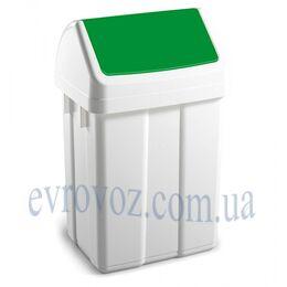 Урна 50 л с зеленой маркировкой