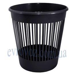 Корзина офисная пластмассовая 12 л черная