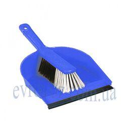 Набор для уборки совок с щеткой ДастПан синий