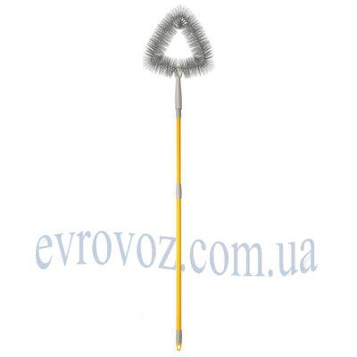 Угловая щетка для снятия паутины с рукояткой