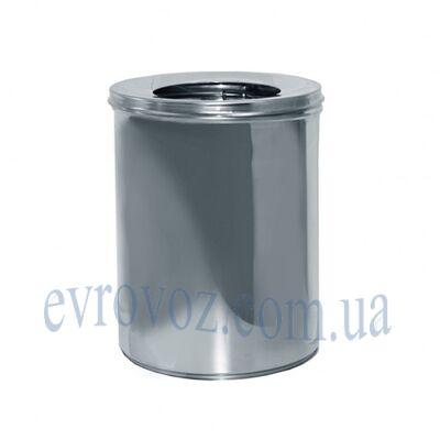 Урна для мусора 11л Линия-Р с крышкой и держателем мешка сатиновая