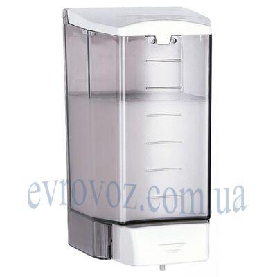 Дозатор жидкого мыла 1,1 л белый с дымчатым корпусом