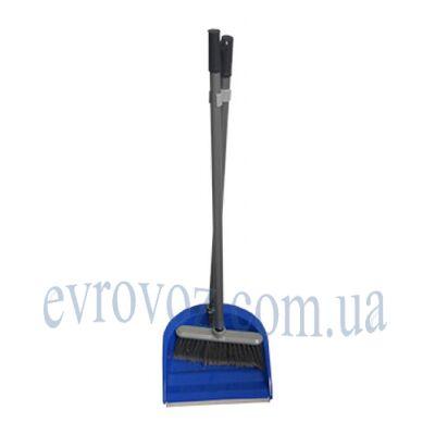Набор для уборки совок с щеткой Иззи синий