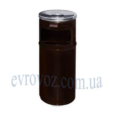 Урна-пепельница 15л Линия-Р коричневая