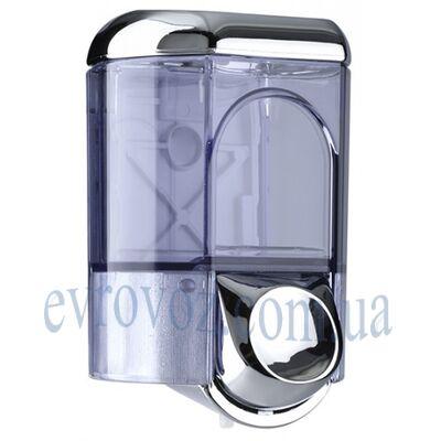 Дозатор жидкого мыла 0,35 л Аквалба серебристый глянцевый