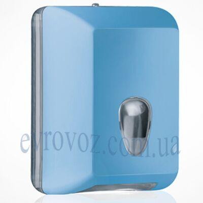Диспенсер для листовой туалетной бумаги голубой