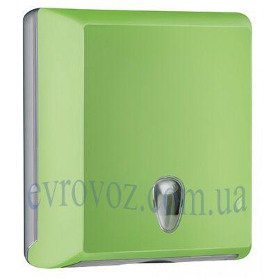 Диспенсер для бумажных полотенец Z-сложения Колор салатовый