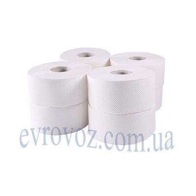 Туалетная бумага в рулоне Джамбо 120 м целлюлоза 1057 листов