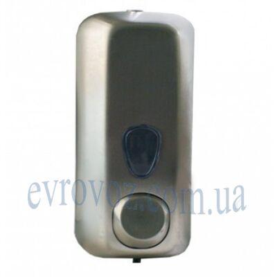 Дозатор жидкого мыла 0,55 л из нержавейки сатиновой