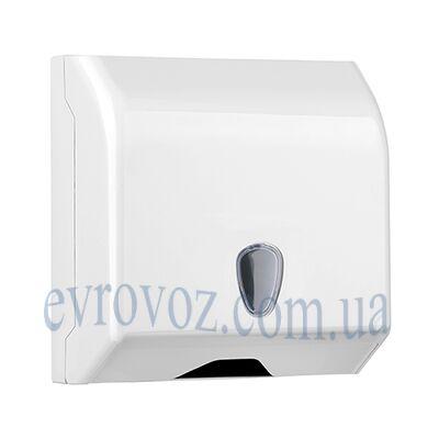 Диспенсер бумажных полотенец V-сложения Престиж белый