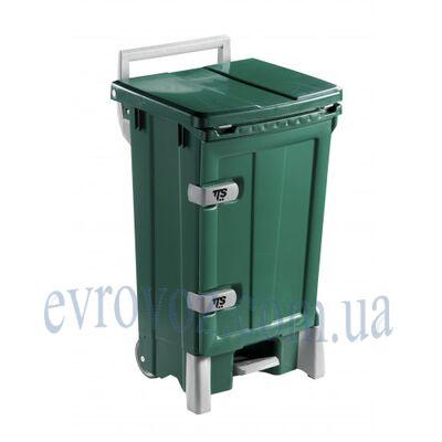Контейнер для мусора 90л Open-up зеленый
