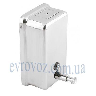 Дозатор жидкого мыла 1,1 л глянцевая нержавейка