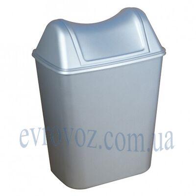 Урна для мусора с поворотной крышкой 8л Аквалба