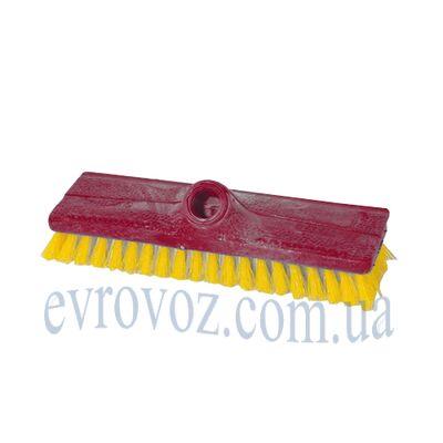 Щетка для пола поливинилхлорид 24см СуперМикс красная