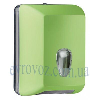 Диспенсер для листовой туалетной бумаги Колор салатовый