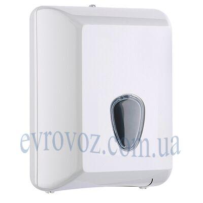 Диспенсер для листовой туалетной бумаги Плюс белый