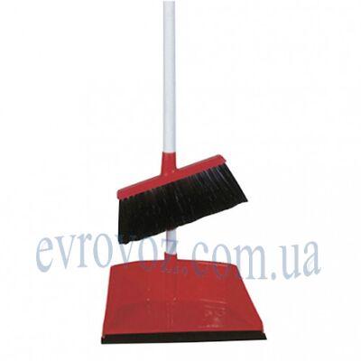 Набор для уборки совок с щеткой Аэропорто красный