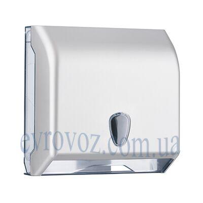 Диспенсер бумажных полотенец V-сложения Престиж серебристый