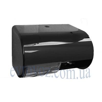 Держатель туалетной бумаги в стандартных рулонах с гильзой Аквалба черный