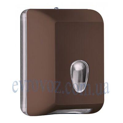 Диспенсер для листовой туалетной бумаги Колор коричневый