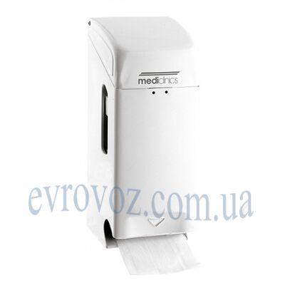 Держатель туалетной бумаги стандарт на 2 рулона белый