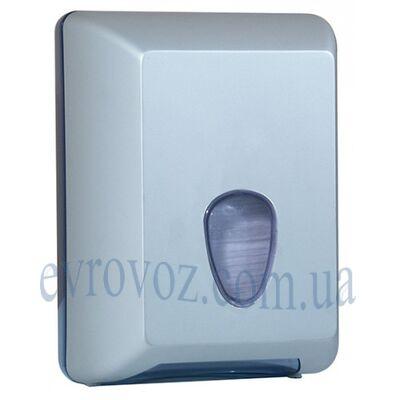Диспенсер для листовой туалетной бумаги Плюс серебристый