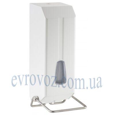 Локтевой дозатор жидкого мыла 1,2 л белый пластик