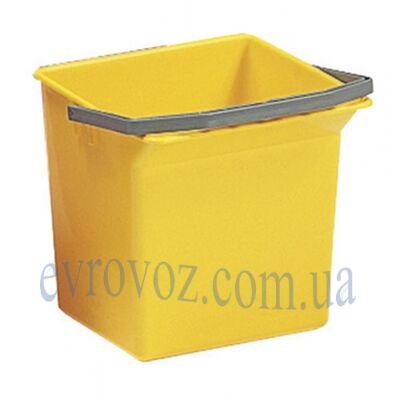 Ведро для уборки с ручкой 6л желтое