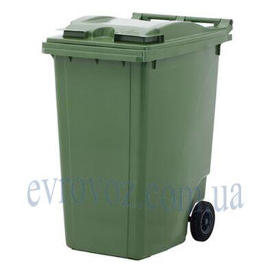 Мусорный контейнер 360л зеленый
