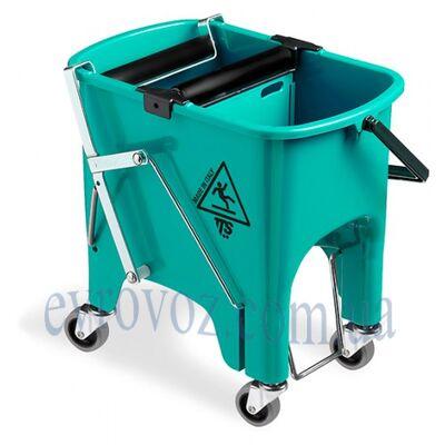 Ведро для уборки с отжимом Скьюзи 15л на колесах