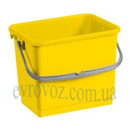Ведро для уборки с ручкой 4л желтое