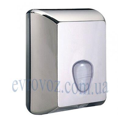 Диспенсер для листовой туалетной бумаги глянцевый серый