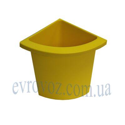 Разделитель урны для мусора Аквалба желтый